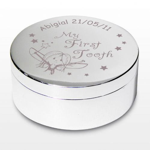 Personalised Fairy My First Tooth Trinket